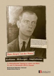 Plakat zur Tagung Hans Jürgen von der Wense Einflüsse – Wirkungen – Inspirationen